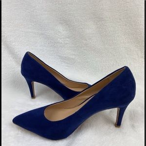 Zara Blue Suede Pumps